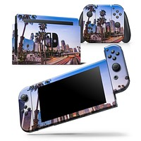 Downtown LA Life V2 - Skin Wrap Decal for Nintendo Switch Lite Console & Dock - 3DS XL - 2DS - Pro - DSi - Wii - Joy-Con Gaming Controller