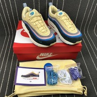 Sean Wotherspoon x Nike Air Max 97 / 1 AJ4219-400  VF SW Hybrid Sport Running Shoes Best Online Sale