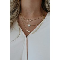 Just My Style Necklace: Gold