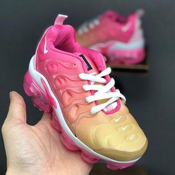 Nike Air Vapor Max Plus Girls Boys Children Baby Toddler Kids Child Breathable Sneakers Sport Shoes
