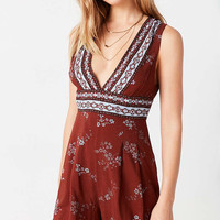 Ecote Taupe Paisley Playsuit - Urban Outfitters