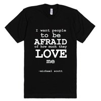 The Office quote-Unisex Black T-Shirt