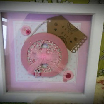 It's a Girl nursery art nursery gift, baby showers, New born gift, For a princess boxed frame picture
