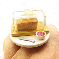 Bread Jam Ring Kawaii Food Ring by SouZouCreations on Etsy