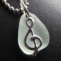 Sea Glass PENDANT - Beach Glass Jewelry -  Ocean's Song