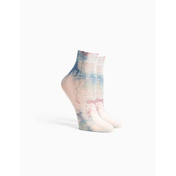 Richer Poorer - Painted Abstract Ikat Socks