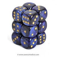 Scarab Royal Blue 12d6 Dice Set | Awesome Dice