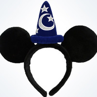 disney parks mickey mouse sorcerer ears headband new with tags