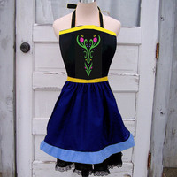 Anna Snow Flower Apron Cosplay Costume Frozen Inspired