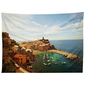 Happee Monkee Summer in Vernazza Tapestry