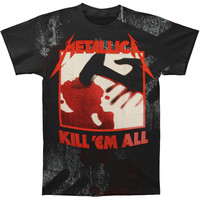 Metallica Men's  Kill Em All Ingrained T-shirt Black