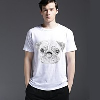 Cute Dogs Pattern Tee Short Sleeve Men's Fashion Cotton Fashion Lovely Casual Stylish Summer T-shirts = 6450227523
