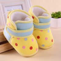0-1 year old baby toddler boots shoes soft bottom cotton girls indoor slippers shoes infant baby first walkers shoes child kids