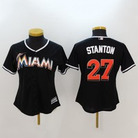 Men's MLB  Buttons Baseball Jersey  HY-17N11Y25D