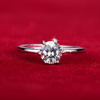 18K Rose Gold Plated CZ Zirconia Fashion Design Double CZ Diamond Engagement Rings For Women G1