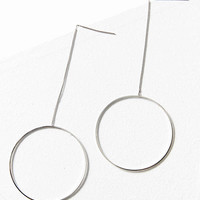 Circle Chain Statement Earring | Urban Outfitters