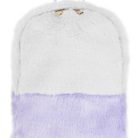 Lilac/Grey Fur Backpack