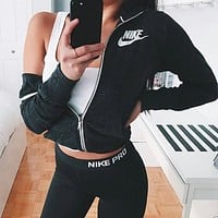 charmcip - Nike Gym Vintage Zip-up Hoodie Jacket