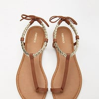 Metallic Braided Toe Sandals