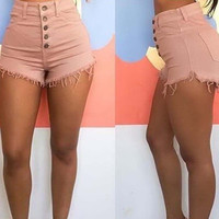 Womens nightclub sexy Korean retro super sexy jeans shorts