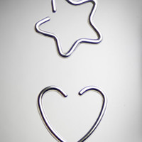 18 Gauge Heart Star Captive Set