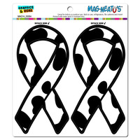 Cows Print Beef Support Awareness Ribbon MAG-NEATO'S TM Car-Refrigerator Magnet Set
