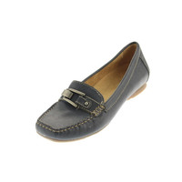 Naturalizer Womens Sophie Leather Moccasin Smoking Loafers