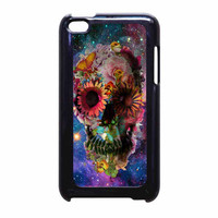 Floral Sugar Skull On Galaxy iPod Touch 4th Generation Case