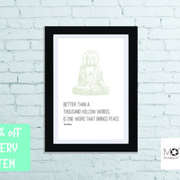 """Buddah Quotes Printable Art instant download.Yoga Decoration Inspirational quote Christmas gift Home Decor letter 8.5""""x11"""" tabloid 11""""x17"""""""