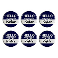 Kyler Hello My Name Is Plastic Resin Button Set of 6