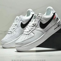 NIKE AIR FORCE 1 x Supreme x The North Face Tide brand new men and women casual sports shoes White+black hook