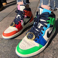 "Melody Ehsani x Air Jordan 1 Mid WMNS ""Fearless"" basketball shoes sneakers shoes"