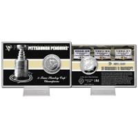 Pittsburgh Penguins NHL Pittsburgh Penguins Stanley Cup inHistoryin Silver Coin Card