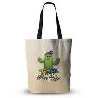 "Noonday Design ""Free Hugs Cactus"" Green Pastel Everything Tote Bag"
