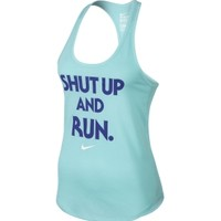 Nike Women's Shut Up and Run Graphic Running Tank Top
