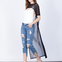 Cropped into Mesh Tunic