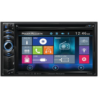 POWER ACOUSTIK PD_624HB 6.2 Double-DIN In-Dash LCD Touchscreen DVD Receiver with Bluetooth(R) & MHL(R) MobileLink X1