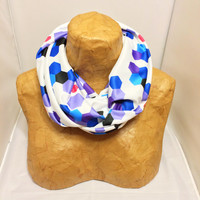 Colorful Knit Scarf - It's a Trap! - Chunky Infinity Scarf