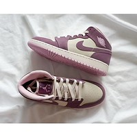 Air Jordan 1 Pink Purple Womens Sport Shoes 36 40
