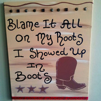 Nursery Wall Art, Kids Room, Children's Room Decor, Western Decor, Lyric Canvas, Song Art, Quotes