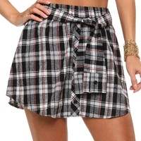 Sale-black All Is Plaid And Dandy Skirt