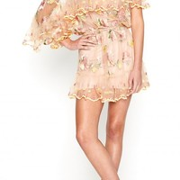 SWEET POPPY DRESS NUDE