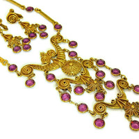 1960s Egyptian Revival Jewelry Set Haute Couture