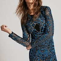 Embroidered Holiday Mini Dress