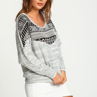 Tribal Speckled Knit Sweater Top