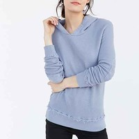Truly Madly Deeply Elbow Patch Hoodie Sweatshirt