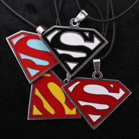 New Arrival Hot Popular Anime Superman S Logo Fashion Alloy Unisex Necklace Pendant = 1946663876