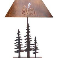 Pine Trees Bedside Lamp