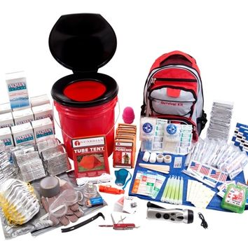 10 Person Deluxe Home and Office Survival Kit - 1-800-Prepare