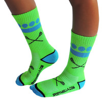 Sportabella Lacrosse Socks: SIMPLE DOT GREEN - Sportabella, Ltd Store